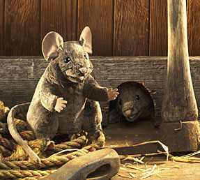 Brown Mouse Puppet