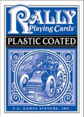 Poker Deck - Plastic Coated Cards - Rally - Blue