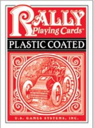 Poker Deck - Plastic Coated Cards - Rally - Red